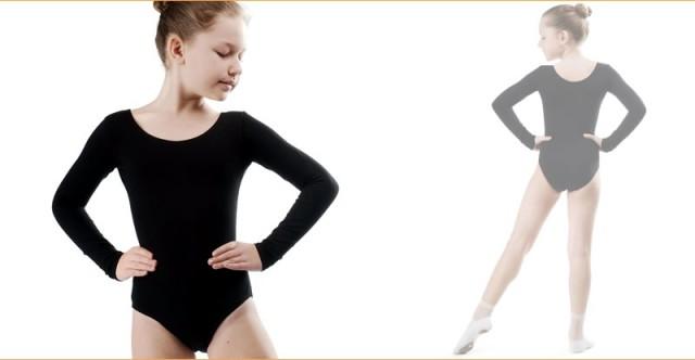 Купальники для хореографии с длинным рукавом