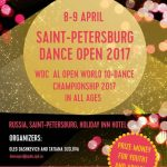 ONLINE ТРАНСЛЯЦИЯ 9 АПРЕЛЯ — SAINT-PETERSBURG DANCE OPEN 2017